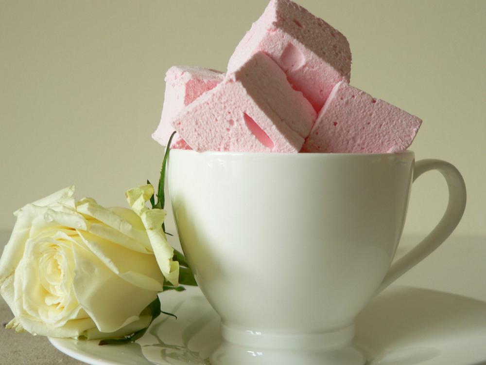 Rose Lychee Marshmallows