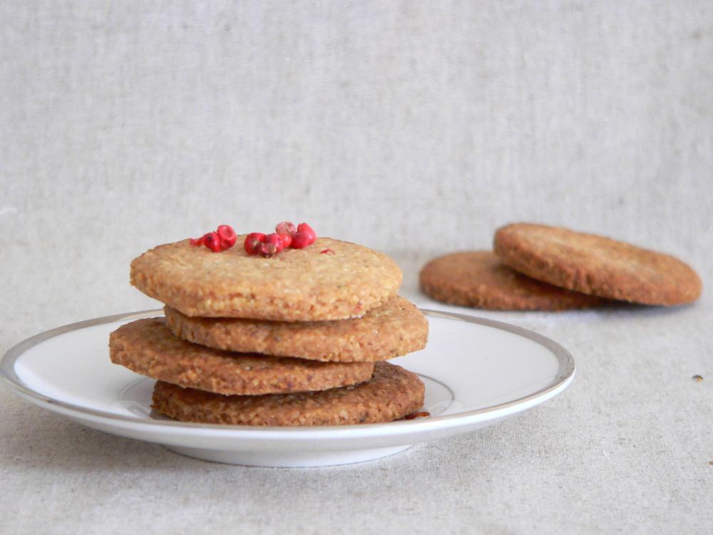 Rosemary Pink Peppercorn Cookies